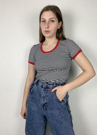 Топ в полоску, полосатый топ, полосатая футболка, футболка в полоску
