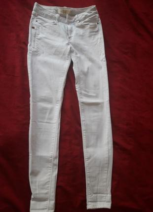 Білі джинси стрейч 24-25 р від зара
