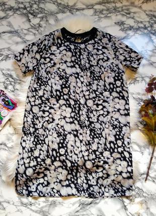 Платье футболка легкое легкое летнее с принтом размер l-xl
