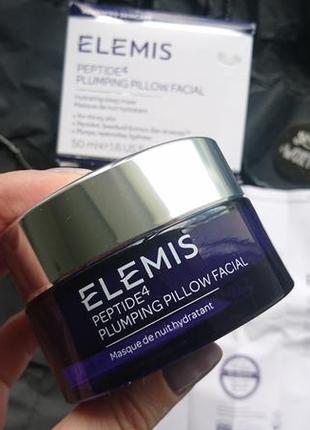 Люксовый уход гель-маска elemis peptide4 plumping pillow facial