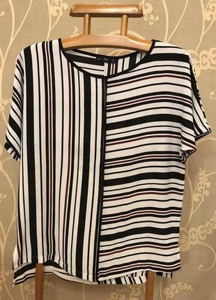 Очень красивая и стильная брендовая блузка в полоску 20.
