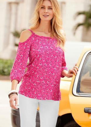 Классная новая вискозная блуза с открытыми плечами bonmarche
