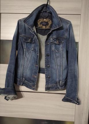 ❤️шикарная джинсовая куртка пиджак orsay