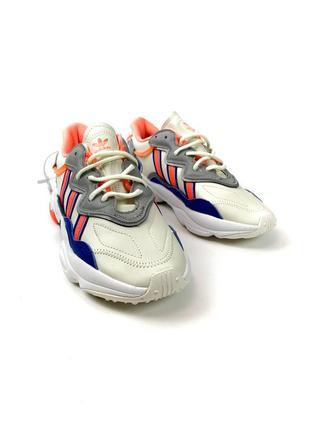 Кроссовки adidas ozweego gray red blue5 фото