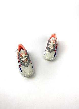 Кроссовки adidas ozweego gray red blue7 фото