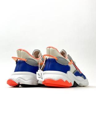 Кроссовки adidas ozweego gray red blue4 фото