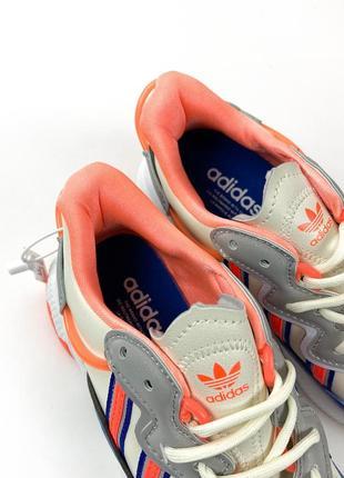 Кроссовки adidas ozweego gray red blue6 фото