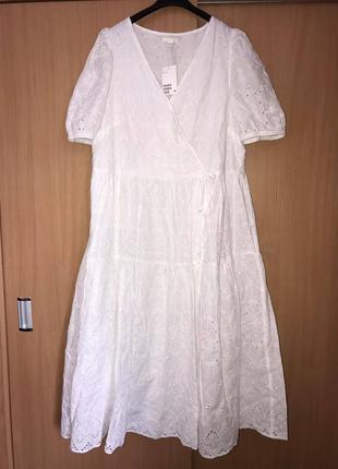 H&m  платье тренд прошва (zara max mara cos maje sandro isabel marant zimmermann)