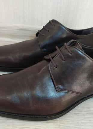 Кожаные туфли оксфорды дерби hugo boss