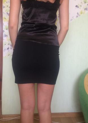 Чорна юбка h&m