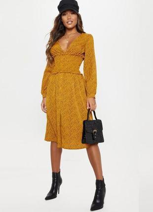 Распродажа платье prettylittlething миди корсетное с asos