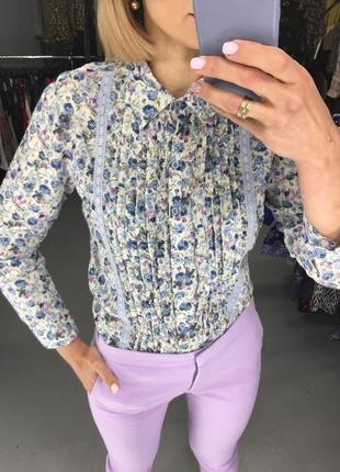 Бомбезна плісірована рубашка, фірми zoteno, квітковий принт