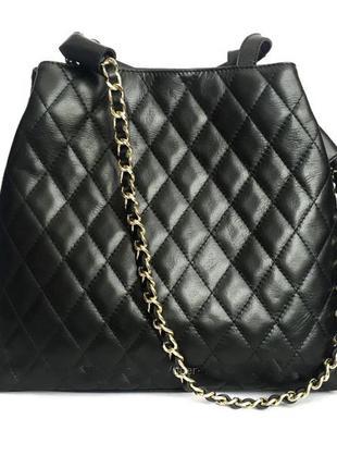 Восхитительная стеганая сумка италия натур. кожа
