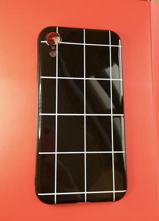 Новый чехол на айфон xr iphone чёрный с белой полоской