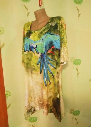 Платье,туника, для шикарной девушки- eu-44-46-не ношена