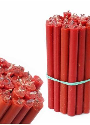 Набор красных магических свечей - 30 шт
