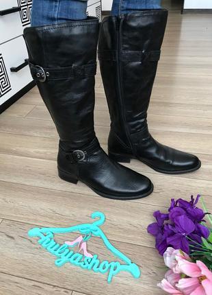 Удобные кожаные сапоги деми на широкую голень бренд ggfm 41-42
