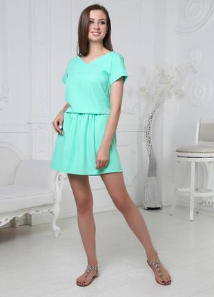 Невероятно красивое платье для соблазнительных модниц! 6 ярких оттенков в наличии! мята