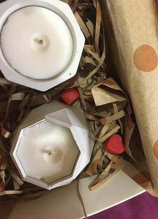 Свечи на подарок ,с кусочками мыла ❤️😍