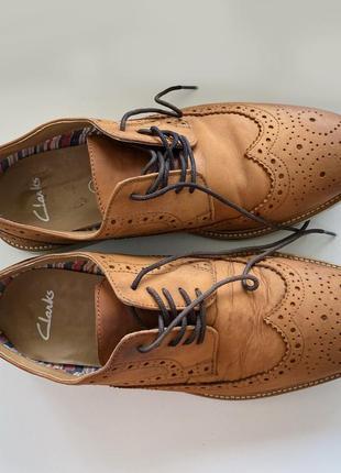 Туфли броги кожаные clarks оригинал размер 6