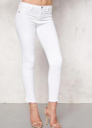 Женские белые джинсы скинни, жіночі білі джинси скіні