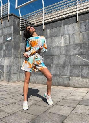 Женский летний спортивный костюм с шортами markva