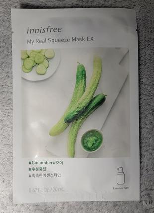 Innisfree корейская косметика, маска для лица, огурец,cucumber