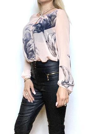 Next прозрачная блузка блуза длинный рукав размер 8