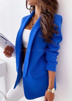 Пиджак женский удлиненный