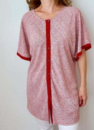 Блуза в полоску из вискозы