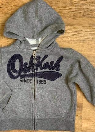 Кофта спорт худи капюшон на молнии «oshkosh» 2t/92cm