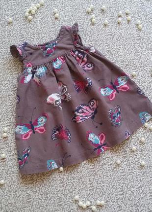 Платье с бабочками next 3-6 мес