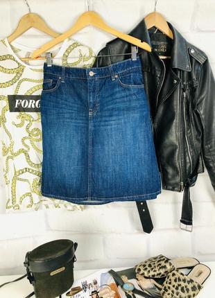 Юбка джинсовая миди