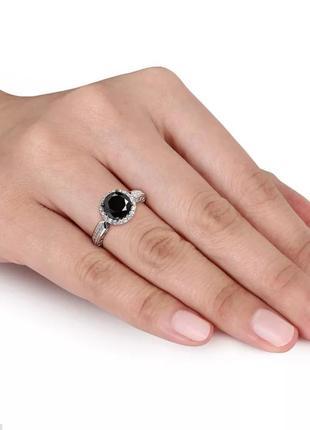 Серебряное кольцо 925 с обсидианом