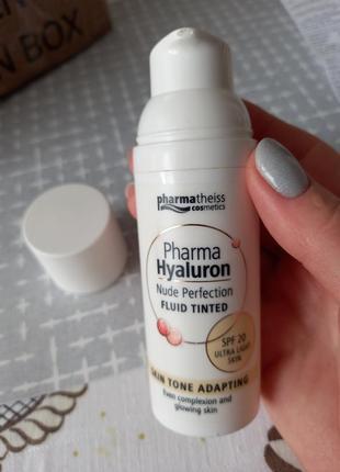 Тональний флюїд pharma hyaluron nude perfection2 фото