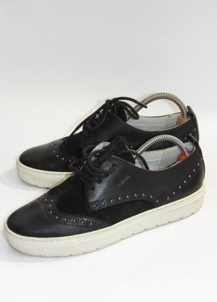 Geox кожаные стильные женские туфли  l20