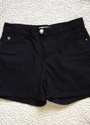 Коротенькие черные летние шортики 34 размер