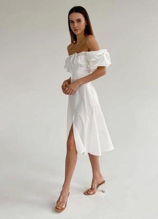 Шикарне жіночне плаття міді 🌹 біле,зелене,бежеве 🌈 якість 👍