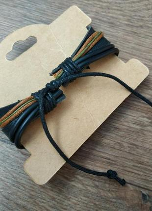 Мужской / женский браслет. кожа, качественная бижутерия.6 фото