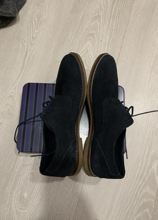 Чоловічі туфлі pull&bear з натурального замшу