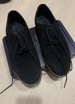 Чоловічі туфлі pull&bear з натурального замшу4 фото