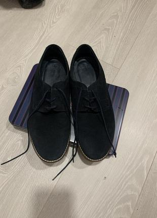 Чоловічі туфлі pull&bear з натурального замшу2 фото