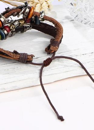 Кожаный браслет - мужской, женский. стильная и качественная бижутерия.6 фото