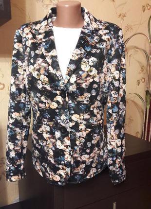Пиджак с цветочным принтом collection  (огромный выбор пиджаков)