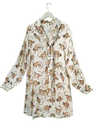 Платье с обезьянами h&m