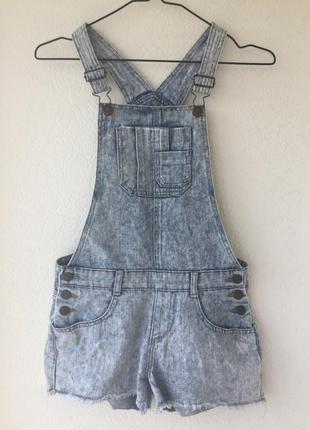 Варёнки джинсовый комбинезон шорты