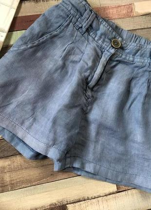 Льняные шорты pepe jeans, шорты лен