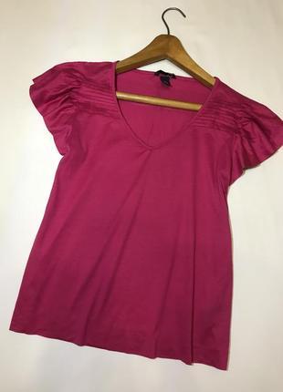 Малиновая натуральная блуза футболка