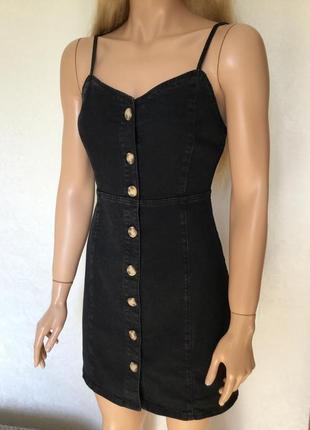Джинсовое платье сарафан denim co платье на пуговицах