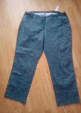 Брендовые джинсы цветочный принт,большой размер.батл.